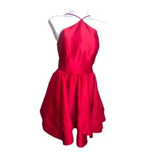 NWT Blondie Nites Red Satin 80s Party Dress